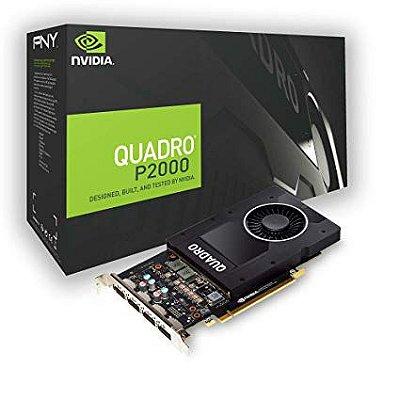 PLACA DE VÍDEO PNY NVIDIA QUADRO P2000, 5GB GDDR5 - VCQP2000