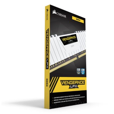 MEMÓRIA CORSAIR VENGEANCE LPX 16GB (2X8GB) 3200MHz, DDR4, BRANCA - CMK16GX4M2B3200C16W