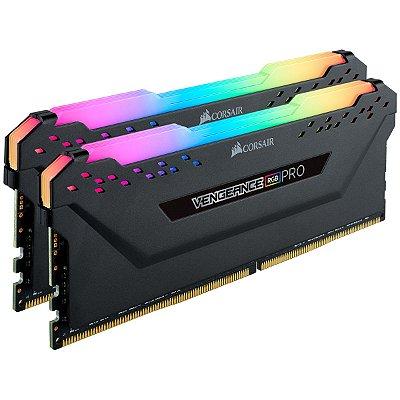 MEMÓRIA CORSAIR VENGEANCE RGB PRO 16GB (2x 8GB) 3200MHz, DDR4 - CMW16GX4M2Z3200C16