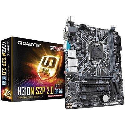 PLACA MÃE GIGABYTE H310M S2P 2.0, INTEL LGA 1151, mATX, DDR4
