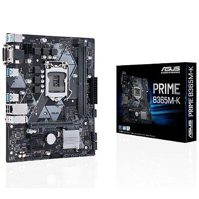PLACA MÃE ASUS PRIME B365M-K, INTEL LGA 1151, 32Gb/s M.2, DDR4 - 90MB10M0-M0EAY0