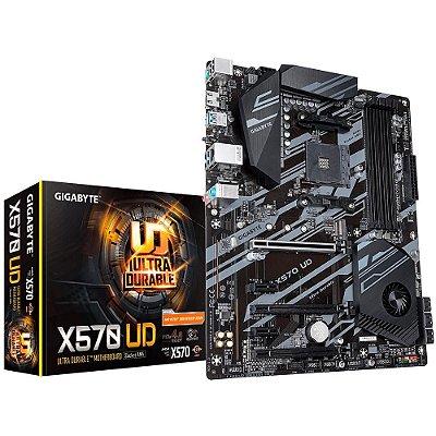 PLACA MÃE GIGABYTE X570 UD, AMD AM4, ATX, DDR4