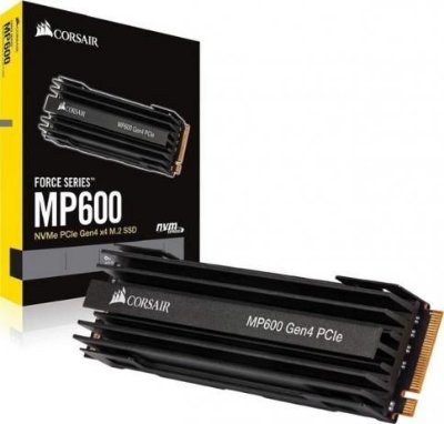 SSD CORSAIR MP600 NVMe M.2 500GB, PCIe Gen.4, LEITURA 4.950MB/s, GRAVAÇÃO 2.500 MB/s - CSSD-F500GBMP5600