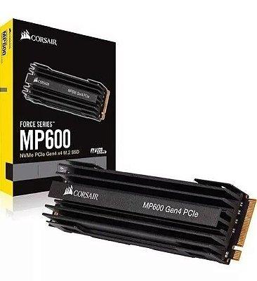 SSD CORSAIR NVMe M.2 MP600 1TB, LEITURA 4.950MB/s, GRAVAÇÃO 4.250 MB/s - CSSD-F1000GBMP600