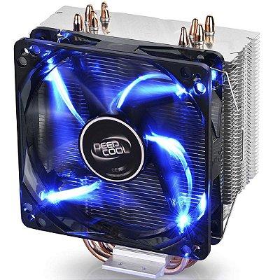 COOLER PARA PROCESSADOR DEEP COOL GAMMAXX 400, INTEL/AMD, SILENT 120MM, AZUL - MCH4-GMX400