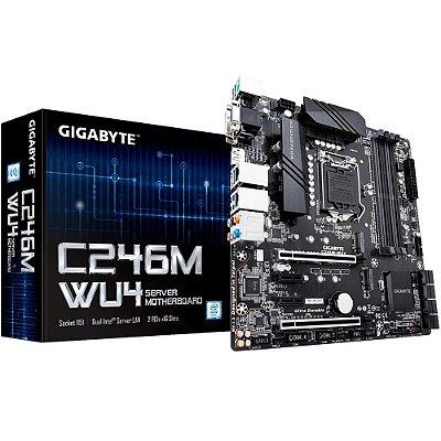 PLACA MÃE GIGABYTE C246M-WU4, INTEL LGA 1151, mATX, DDR4
