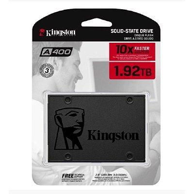 SSD KINGSTON A400 1.92TB, SATA, LEITURA 500MB/s, GRAVAÇÃO 450MB/s - SA400S37/1920G