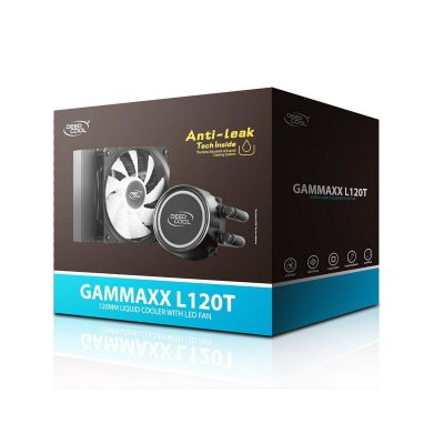 WATER COOLER DEEPCOOL GAMMAXX L120T, 120MM, LED AZUL, AMD/INTEL - DP-H12RF-GL120TB