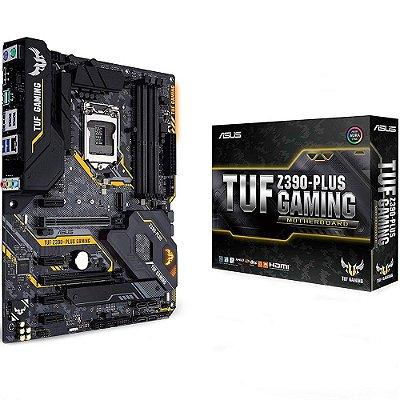 PLACA MÃE ASUS TUF Z390-PLUS GAMING, INTEL LGA 1151, ATX, DDR4