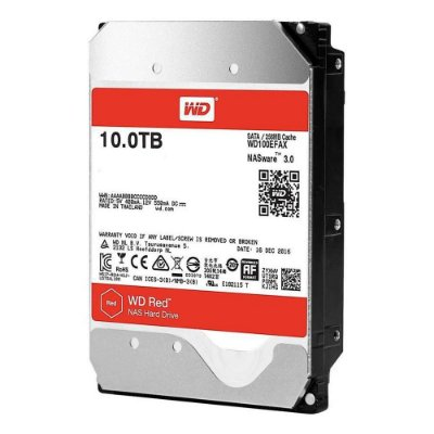 HD WD RED NAS 10TB, 3.5´, SATA 6Gb/s - WD100EFAX