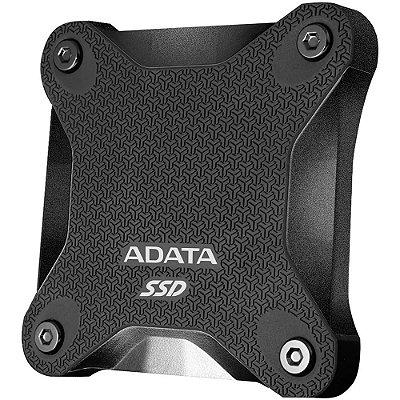 SSD EXTERNO ADATA SD600Q DURABLE 960GB, LEITURA 440MB/s, GRAVAÇÃO 440MB/s - ASD600Q-960GU31-CBK