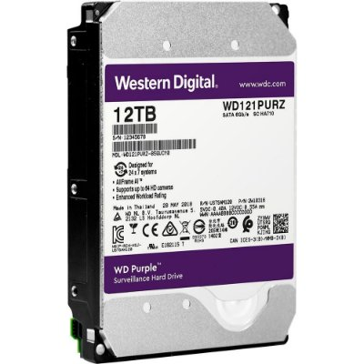 HD WD PURPLE SURVEILLANCE 12TB, SATA 3.5´, 7200RPM, 256MB CACHE - WD121PURZ