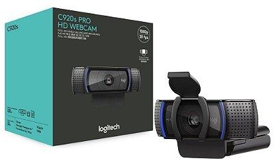 WEBCAM LOGITECH C920s PRO HD, CHAMADAS E GRAVAÇÕES 1080P/30FPS, FULL HD, ÁUDIO ESTÉREO COM MICROFONES DUPLOS