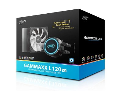 WATER COOLER DEEPCOOL GAMMAXX L120T v2, 120MM, RGB, AMD/INTEL - DP-H12RF-GL120V2