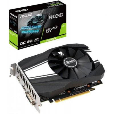 PLACA DE VÍDEO ASUS PHOENIX NVIDIA GeForce GTX 1660 6GB SUPER, GDDR5 - PH-GTX1660-O6G