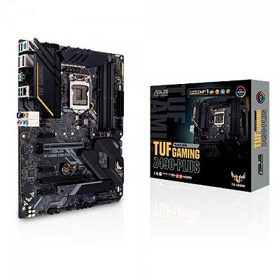 PLACA MÃE ASUS Z490-PLUS TUF GAMING, Chipset Z490, Intel LGA 1200, ATX, DDR4, 10ª Geração Intel