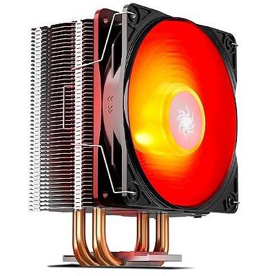 COOLER PARA PROCESSADOR DEEPCOOL GAMMAXX 400 V2 LED VERMELHO, DP-MCH4-GMX400V2-RD