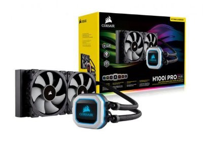 WATER COOLER CORSAIR HYDRO SERIES H100I PRO RGB 240MM, CW-9060033-WW