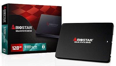 SSD BIOSTAR S120 128GB, SATA 3 6Gb/s, LEITURA 550MB/s, GRAVAÇÃO 510MB/s