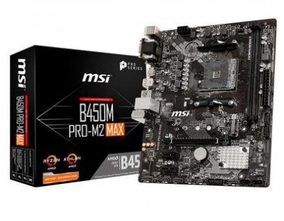 PLACA MÃE MSI B450M PRO-M2 MAX p/ AMD AM4, m-ATX, DDR4