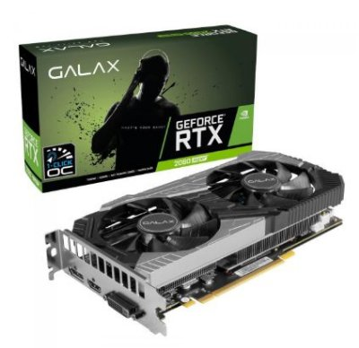 PLACA DE VÍDEO GALAX GEFORCE RTX 2060 SUPER (1-CLICK OC), TECLAB LITE 8GB GDDR6, 256BIT, 26ISL6HP68LD