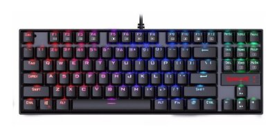 TECLADO MECÂNICO GAMER REDRAGON KUMARA RGB USB SWITCH OUTEMU BROWN,  PT - K552