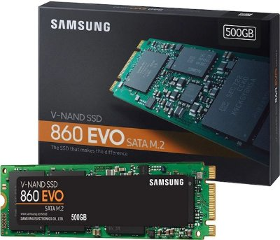 SSD SAMSUNG 860 EVO 500GB, M.2 2280, LEITURA 550MBS E GRAVAÇÃO 520MBS - MZ-N6E500BW