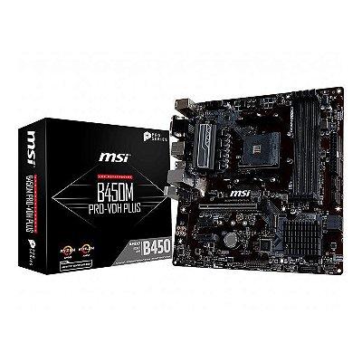 PLACA MAE MSI B450M PRO-VDH PLUS DDR4 SOCKET AM4 CHIPSET AMD B450