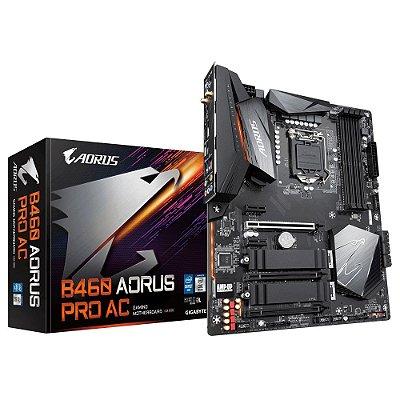 PLACA-MÃE AORUS B460M AORUS PRO AC, INTEL LGA 1200, MATX, DDR4, WI-FI