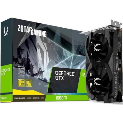 PLACA DE VIDEO ZOTAC GEFORCE GTX 1660 TI TWIN FAN 6GB ZT-T16610F-10L GDDR6 PCI-EXP