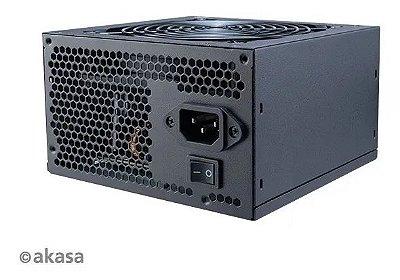 FONTE AKASA PYTHON 500W REAIS BIVOLT 80 PLUS - AK-P050FG8-BKBR