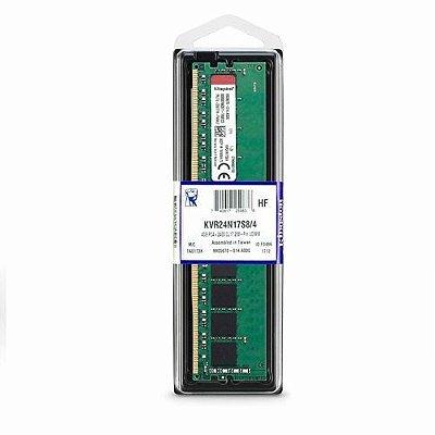 MEMORIA KINGSTON 4GB (1X4) DDR4 2400MHZ, KVR24N17S8/4