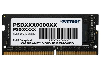 MEMORIA RAM PARA NOTEBOOK PATRIOT 4GB, DDR4, 2666MHZ, 1X4GB - PSD44G266681S