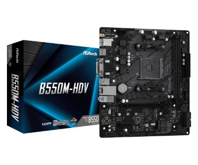 PLACA MÃE ASROCK B550M-HDV, CHIPSET B550, AMD AM4, MATX, DDR4
