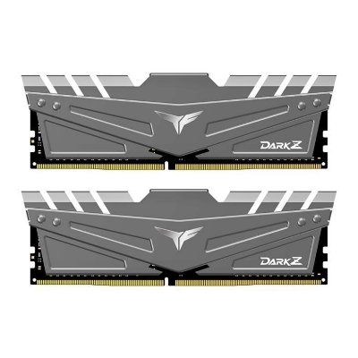MEMORIA TEAM GROUP T-FORCE DARK Z 16GB (2X8) DDR4 3200MHZ CINZA - TDZGD416G3200HC16CDC01