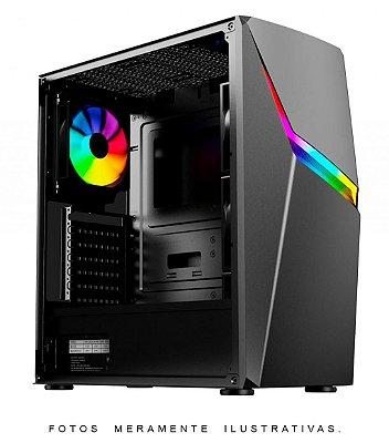 GABINETE GAMER PIXXO AX3 RGB, SEM FAN, LATERAL EM VIDRO - CGAX3