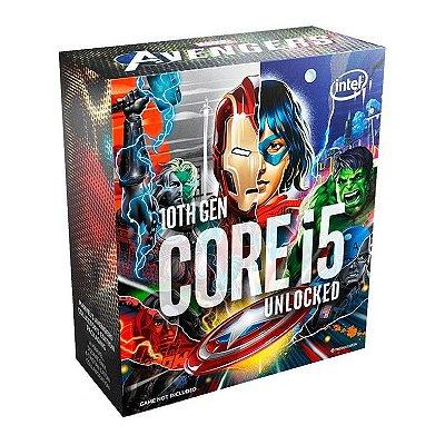PROCESSADOR INTEL CORE I5-10600K AVENGERS EDITION HEXA-CORE 4.1GHZ (4.8GHZ TURBO) 12MB CACHE LGA1200, BX8070110600KA