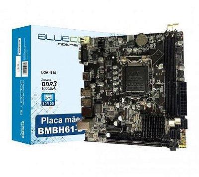 PLACA MÃE 1155 2ª GERAÇÃO BLUECASE, DDR3, 16GB, VGA, HDMI - BMBH61-D