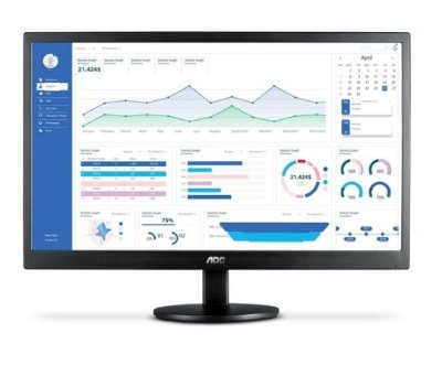 "MONITOR AOC 21,5"" LED VGA VESA AJUSTE DE INCLINACAO 1920X1080 FULL HD - E2270SWHEN"