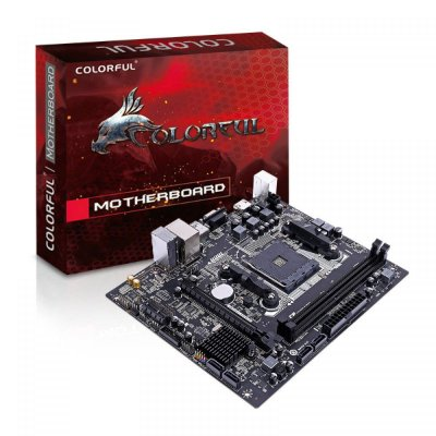 PLACA MÃE COLORFUL A320M-K PRO V14, CHIPSET A320, AMD AM4, MATX, DDR4