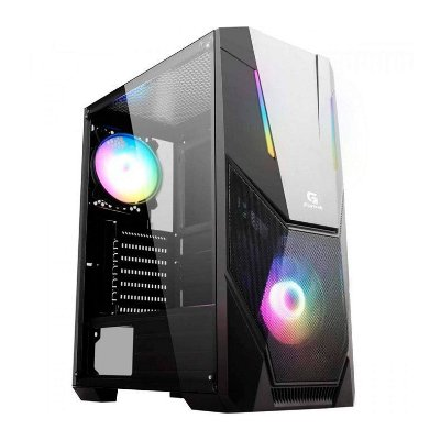 GABINETE GAMER FORTREK BLACK HAWK RGB PRETO C/ 1FAN - 70570