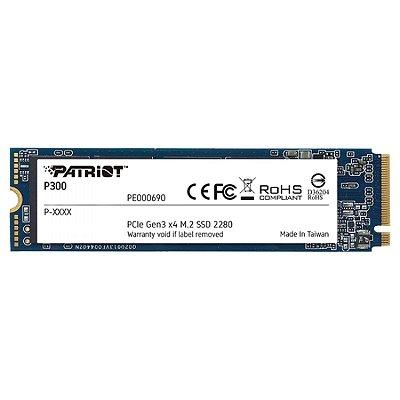 SSD PATRIOT P300, 512GB, NVME, LEITURA 1700MBS E GRAVAÇÃO 1100MBS - P300P512GM28