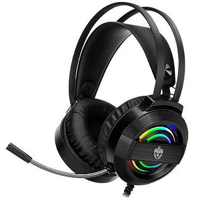 HEADSET GAMER USB C/ MIC RGB EVOLUT GAREN  - EG-320
