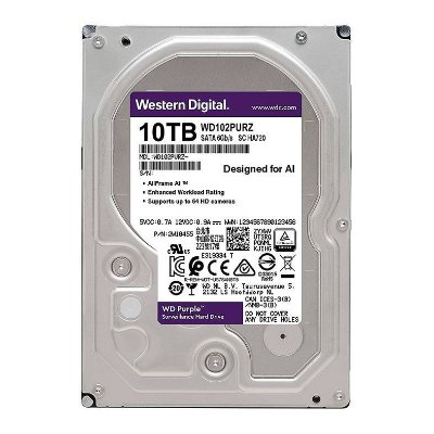 "HD WD PURPLE 10TB 3.5"" SATA III 6GB/S - WD102PURZ"