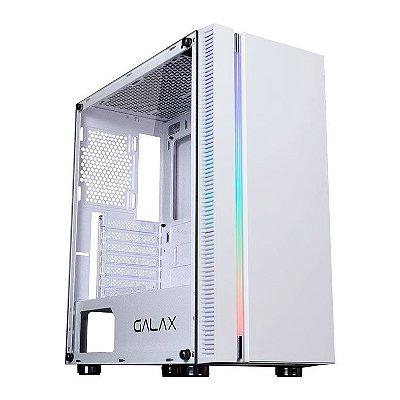 GABINETE GALAX QUASAR LATERAL VIDRO TEMP BRANCO - GX600-WH