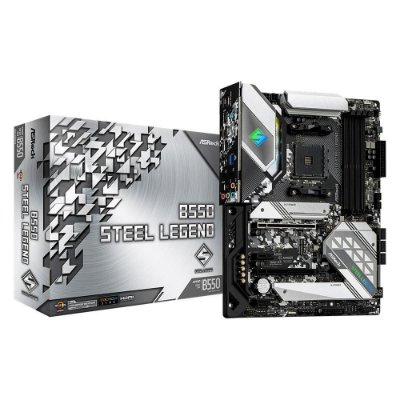 PLACA-MÃE ASROCK B550 STEEL LEGEND, AMD AM4, ATX, DDR4
