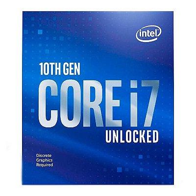 PROCESSADOR INTEL CORE I7-10700KF OCTA-CORE 3.8GHZ (5.1GHZ TURBO) 16MB CACHE LGA1200 - BX8070110700KF