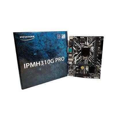 PLACA MÃE PCWARE IPMH310G PRO DDR4 MATX LGA 1151 8ª E 9ª GERAÇÃO