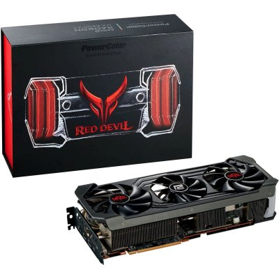 PLACA DE VÍDEO POWER COLOR RADEON RX 6800 XT RED DEVIL 16GB GDDR6 PCI 4.0 - AXRX 6800XT 16GBD6-2DHCE/OC