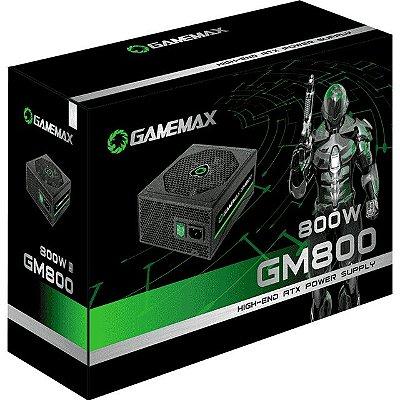 FONTE GAMEMAX 800W 80 PLUS BRONZE SEMI-MODULAR - GM800